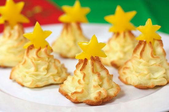 Рождественские елки из картофеля
