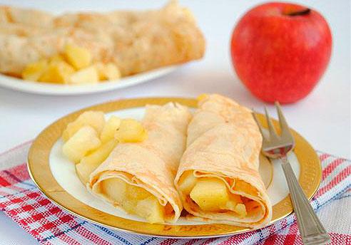 Блины тесто с яблоками — pic 2