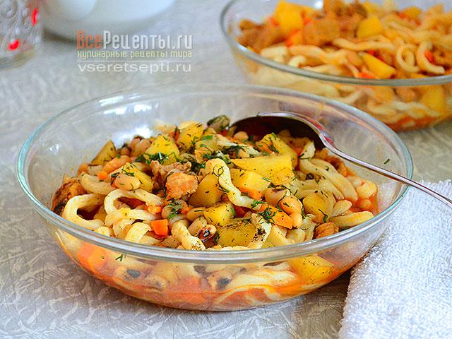лагман с макаронами рецепт с фото