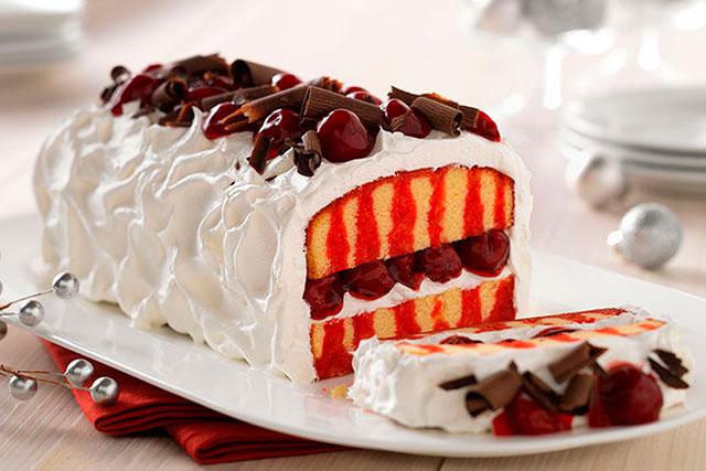 Бисквитный торт с вишней фото