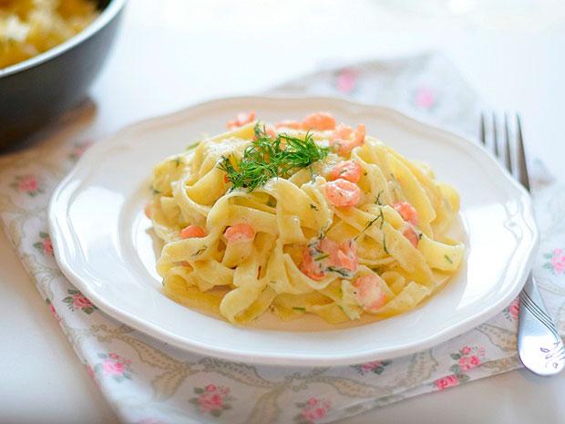 Паста с креветками в сливочном соусе 🤩 - пошаговый рецепт с фото ... | 465x620