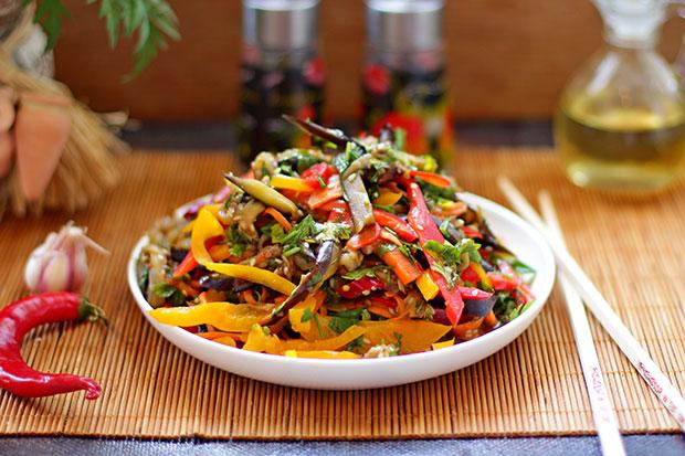рецепт салат баклажаны по-корейски