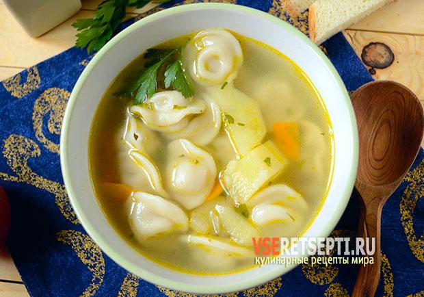 пельменный суп рецепт с пошаговым