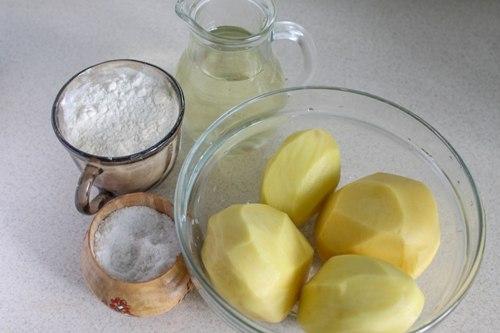 Продукты для картошки фри