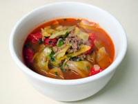 Суп с капустой и фаршем