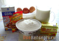 Основные ингредиенты блинов