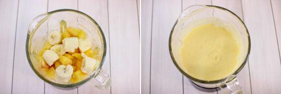 Тропический коктейль с йогуртом