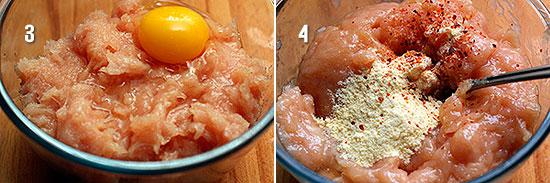 Вбиваем яйцо и кукурузную муку