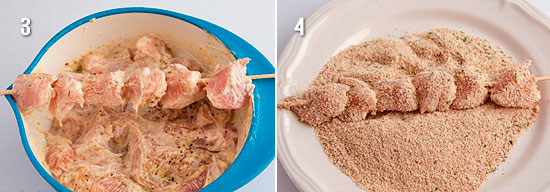 насадить мясо деревянные шпажки