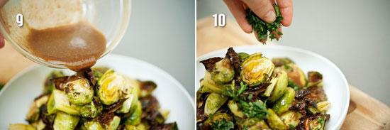 Полейте соусом и посыпьте зеленью