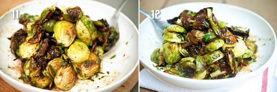 Перемешайте и подайте готовую брюссельскую капусту на стол