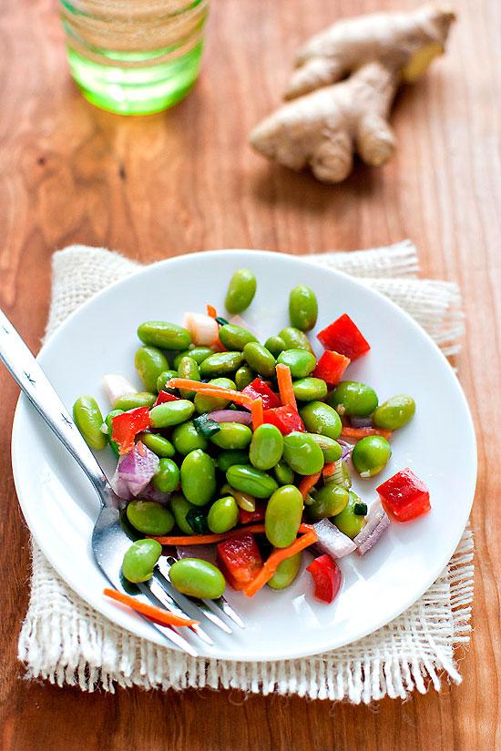 Гарнир из фасоли и овощей