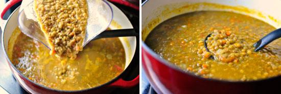 Готовый чечевичный суп