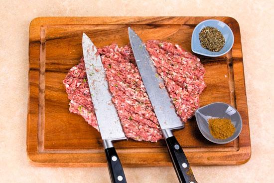 Нарубленное мясо для Люля-кебаб