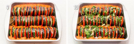 Овощи уложенные в форму для запекания