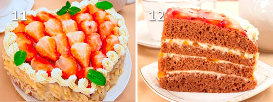 Торт в виде сердца рецепт