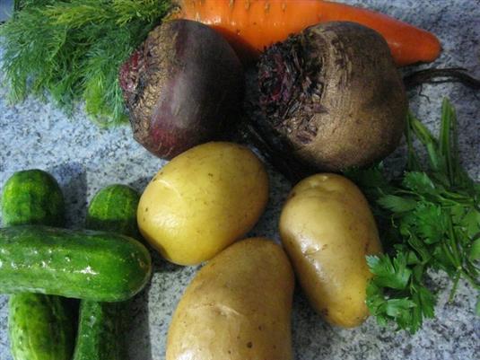 овощи на винегрет