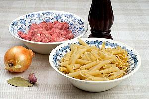 Продукты для макарон по-флотски