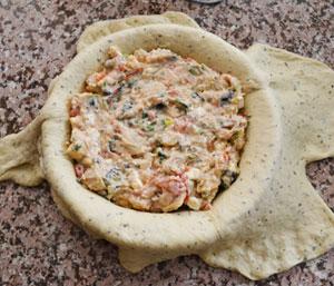Овощной закрытый пирог рецепт