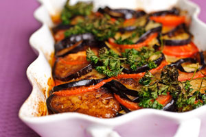 Запеченные баклажаны с мясом в духовке