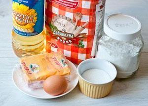 Ингредиенты для творожных пончиков