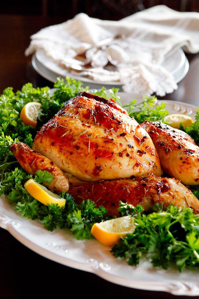 Праздничная курица рецепт