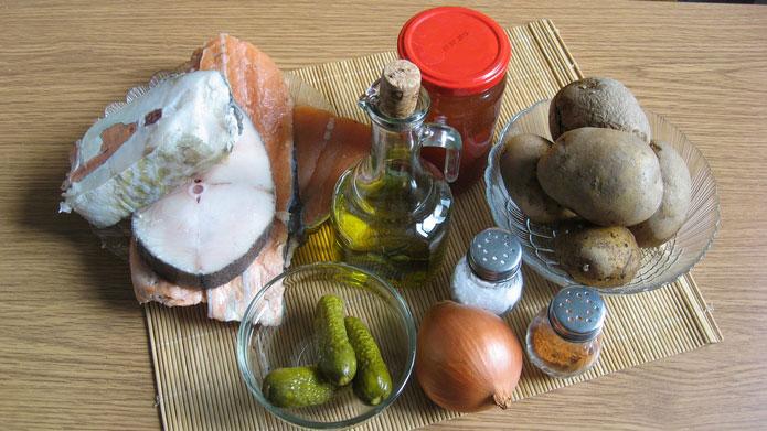 Продукты для рыбной солянки