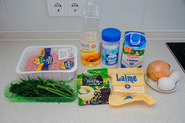 Продукты для приготовления фрикаделек