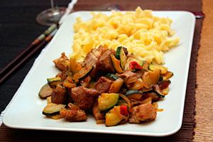 Жареная свинина с овощами рецепт