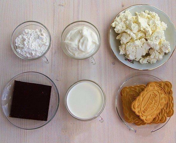 Продукты для приготовления десерта без выпечки