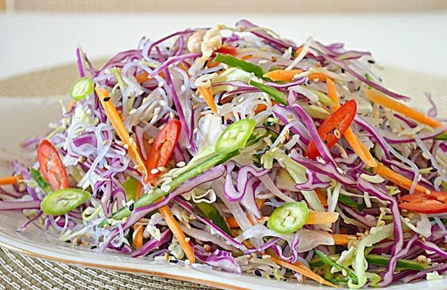 Пекинский салат с фунчозой фото
