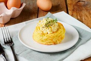 Картофельные гнезда в духовке рецепт