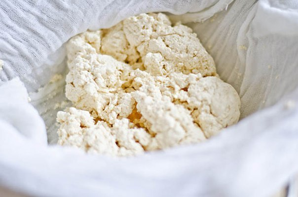 Рецепт творога из молока и кефира