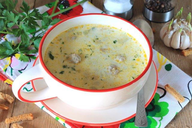 Сливочный суп с фрикадельками рецепт