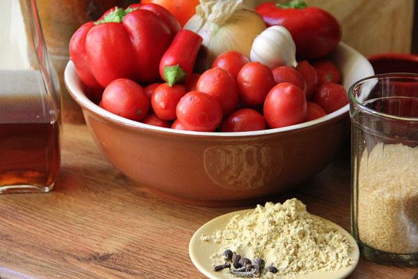 Продукты для приготовления кетчупа