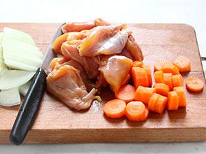 Ингредиенты для гуляша из курицы
