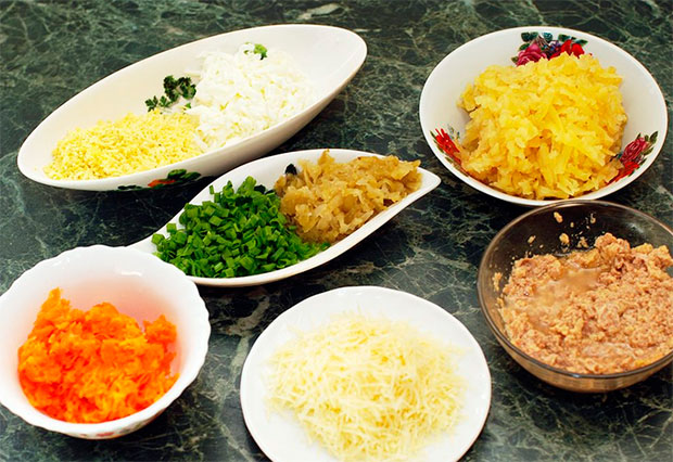 Продукты для приготовления салата из печени трески