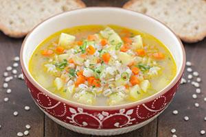 Перловый суп с курицей фото