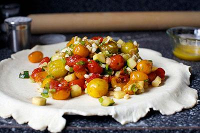 Галета с овощами – Открытый французский пирог