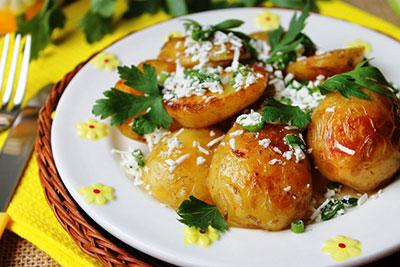 Отварная жареная картошка