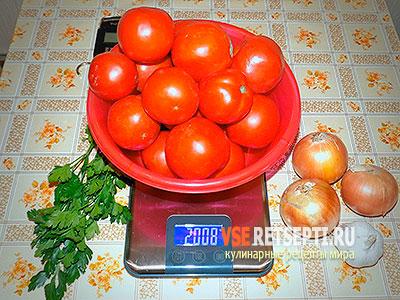 Сладкий салат из помидоров