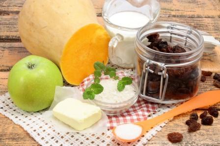 Ингредиенты для каши с тыквой