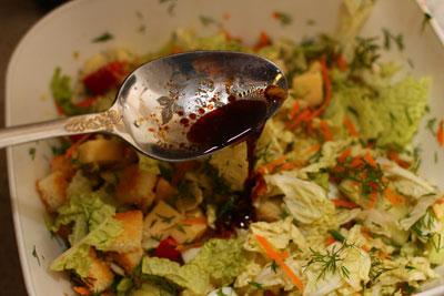 Овощи в соевой заправке