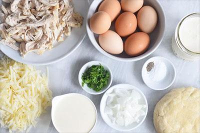 Продукты для пирога с курицей