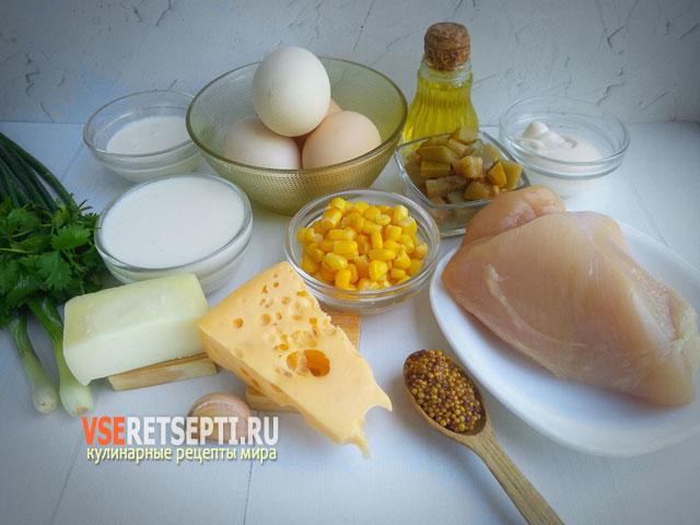 Продукты для приготовления бризоль