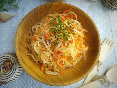 Дайкон по-корейски рецепт с фото