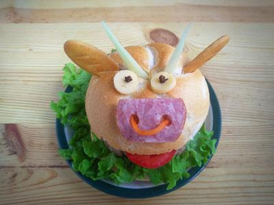 Новогодний бургер рецепт