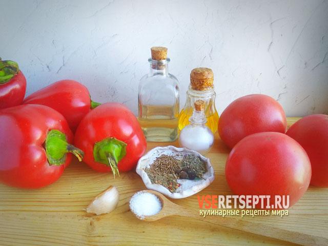 Ингредиенты для соуса Лютеница